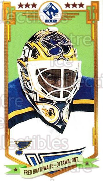2001-02 Private Stock PS 2002 Action #60 Fred Brathwaite<br/>5 In Stock - $1.00 each - <a href=https://centericecollectibles.foxycart.com/cart?name=2001-02%20Private%20Stock%20PS%202002%20Action%20%2360%20Fred%20Brathwaite...&quantity_max=5&price=$1.00&code=95980 class=foxycart> Buy it now! </a>