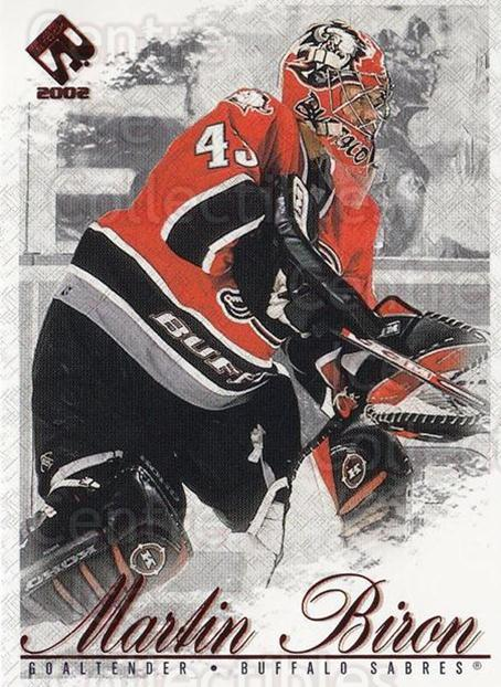 2001-02 Private Stock Hobby Red #8 Martin Biron<br/>2 In Stock - $1.00 each - <a href=https://centericecollectibles.foxycart.com/cart?name=2001-02%20Private%20Stock%20Hobby%20Red%20%238%20Martin%20Biron...&quantity_max=2&price=$1.00&code=96131 class=foxycart> Buy it now! </a>