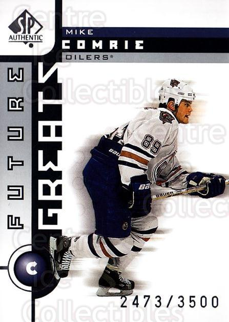 2001-02 SP Authentic #112 Mike Comrie<br/>14 In Stock - $2.00 each - <a href=https://centericecollectibles.foxycart.com/cart?name=2001-02%20SP%20Authentic%20%23112%20Mike%20Comrie...&quantity_max=14&price=$2.00&code=96471 class=foxycart> Buy it now! </a>