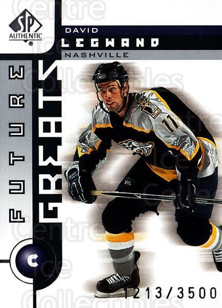 2001-02 SP Authentic #113 David Legwand<br/>10 In Stock - $2.00 each - <a href=https://centericecollectibles.foxycart.com/cart?name=2001-02%20SP%20Authentic%20%23113%20David%20Legwand...&quantity_max=10&price=$2.00&code=96472 class=foxycart> Buy it now! </a>