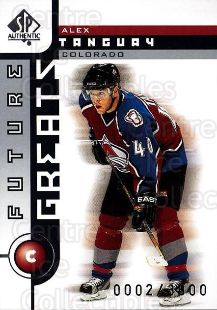 2001-02 SP Authentic #116 Alex Tanguay<br/>9 In Stock - $2.00 each - <a href=https://centericecollectibles.foxycart.com/cart?name=2001-02%20SP%20Authentic%20%23116%20Alex%20Tanguay...&quantity_max=9&price=$2.00&code=96475 class=foxycart> Buy it now! </a>