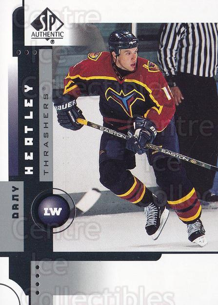 2001-02 SP Authentic #3 Dany Heatley<br/>3 In Stock - $1.00 each - <a href=https://centericecollectibles.foxycart.com/cart?name=2001-02%20SP%20Authentic%20%233%20Dany%20Heatley...&quantity_max=3&price=$1.00&code=96520 class=foxycart> Buy it now! </a>