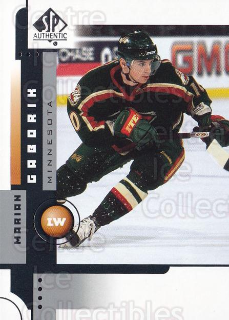 2001-02 SP Authentic #42 Marian Gaborik<br/>4 In Stock - $1.00 each - <a href=https://centericecollectibles.foxycart.com/cart?name=2001-02%20SP%20Authentic%20%2342%20Marian%20Gaborik...&quantity_max=4&price=$1.00&code=96533 class=foxycart> Buy it now! </a>