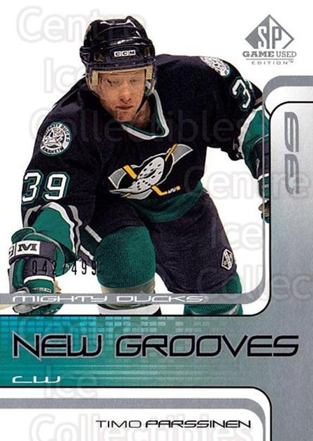 2001-02 SP Game Used #62 Timo Parssinen<br/>6 In Stock - $5.00 each - <a href=https://centericecollectibles.foxycart.com/cart?name=2001-02%20SP%20Game%20Used%20%2362%20Timo%20Parssinen...&quantity_max=6&price=$5.00&code=96635 class=foxycart> Buy it now! </a>