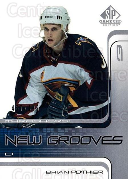 2001-02 SP Game Used #64 Brian Pothier<br/>4 In Stock - $5.00 each - <a href=https://centericecollectibles.foxycart.com/cart?name=2001-02%20SP%20Game%20Used%20%2364%20Brian%20Pothier...&quantity_max=4&price=$5.00&code=96637 class=foxycart> Buy it now! </a>