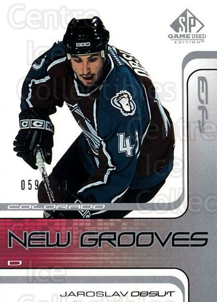 2001-02 SP Game Used #70 Jaroslav Obsut<br/>4 In Stock - $5.00 each - <a href=https://centericecollectibles.foxycart.com/cart?name=2001-02%20SP%20Game%20Used%20%2370%20Jaroslav%20Obsut...&quantity_max=4&price=$5.00&code=96641 class=foxycart> Buy it now! </a>