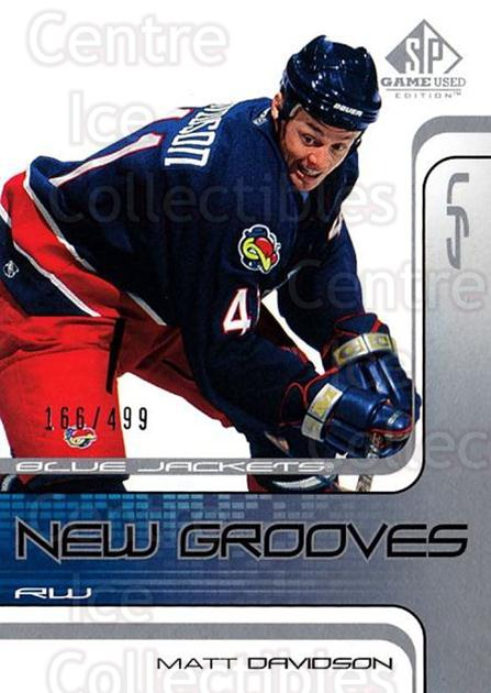 2001-02 SP Game Used #73 Matt Davidson<br/>4 In Stock - $5.00 each - <a href=https://centericecollectibles.foxycart.com/cart?name=2001-02%20SP%20Game%20Used%20%2373%20Matt%20Davidson...&quantity_max=4&price=$5.00&code=96644 class=foxycart> Buy it now! </a>
