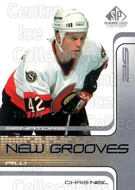2001-02 SP Game Used #91 Chris Neil<br/>4 In Stock - $5.00 each - <a href=https://centericecollectibles.foxycart.com/cart?name=2001-02%20SP%20Game%20Used%20%2391%20Chris%20Neil...&quantity_max=4&price=$5.00&code=96653 class=foxycart> Buy it now! </a>
