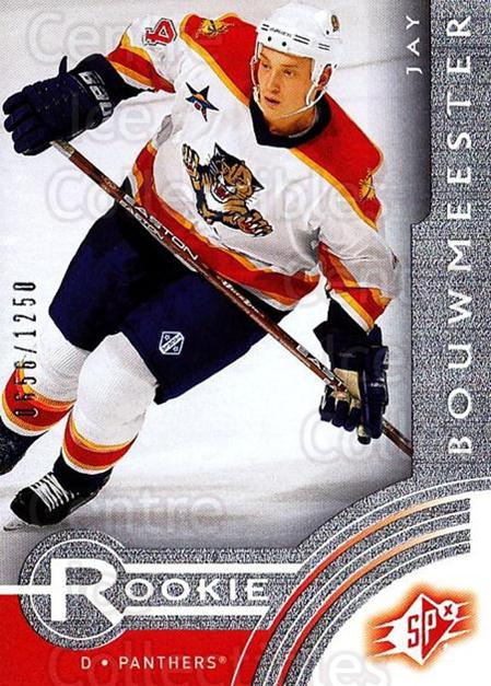 2001-02 SPx Rookie Redeemed #13 Jay Bouwmeester<br/>5 In Stock - $5.00 each - <a href=https://centericecollectibles.foxycart.com/cart?name=2001-02%20SPx%20Rookie%20Redeemed%20%2313%20Jay%20Bouwmeester...&quantity_max=5&price=$5.00&code=96689 class=foxycart> Buy it now! </a>