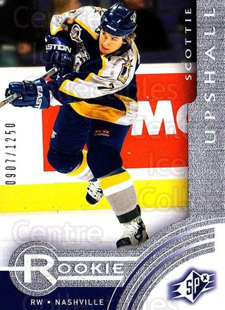 2001-02 SPx Rookie Redeemed #17 Scottie Upshall<br/>5 In Stock - $5.00 each - <a href=https://centericecollectibles.foxycart.com/cart?name=2001-02%20SPx%20Rookie%20Redeemed%20%2317%20Scottie%20Upshall...&quantity_max=5&price=$5.00&code=96693 class=foxycart> Buy it now! </a>