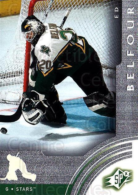 2001-02 SPx #20 Ed Belfour<br/>4 In Stock - $1.00 each - <a href=https://centericecollectibles.foxycart.com/cart?name=2001-02%20SPx%20%2320%20Ed%20Belfour...&quantity_max=4&price=$1.00&code=96783 class=foxycart> Buy it now! </a>