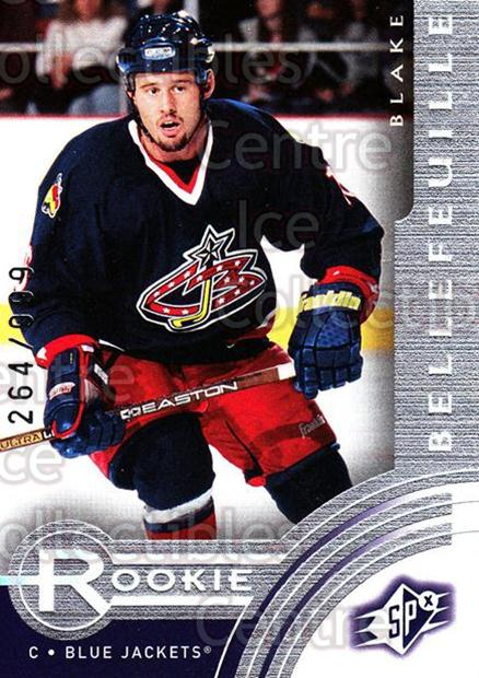 2001-02 SPx #203 Blake Bellefeuille<br/>2 In Stock - $3.00 each - <a href=https://centericecollectibles.foxycart.com/cart?name=2001-02%20SPx%20%23203%20Blake%20Bellefeui...&quantity_max=2&price=$3.00&code=96787 class=foxycart> Buy it now! </a>