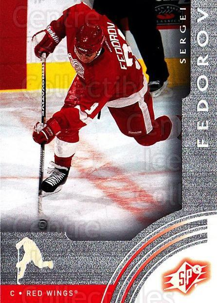 2001-02 SPx #24 Sergei Fedorov<br/>6 In Stock - $1.00 each - <a href=https://centericecollectibles.foxycart.com/cart?name=2001-02%20SPx%20%2324%20Sergei%20Fedorov...&quantity_max=6&price=$1.00&code=96799 class=foxycart> Buy it now! </a>