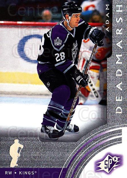 2001-02 SPx #32 Adam Deadmarsh<br/>6 In Stock - $1.00 each - <a href=https://centericecollectibles.foxycart.com/cart?name=2001-02%20SPx%20%2332%20Adam%20Deadmarsh...&quantity_max=6&price=$1.00&code=96808 class=foxycart> Buy it now! </a>