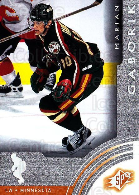 2001-02 SPx #33 Marian Gaborik<br/>6 In Stock - $1.00 each - <a href=https://centericecollectibles.foxycart.com/cart?name=2001-02%20SPx%20%2333%20Marian%20Gaborik...&quantity_max=6&price=$1.00&code=96809 class=foxycart> Buy it now! </a>