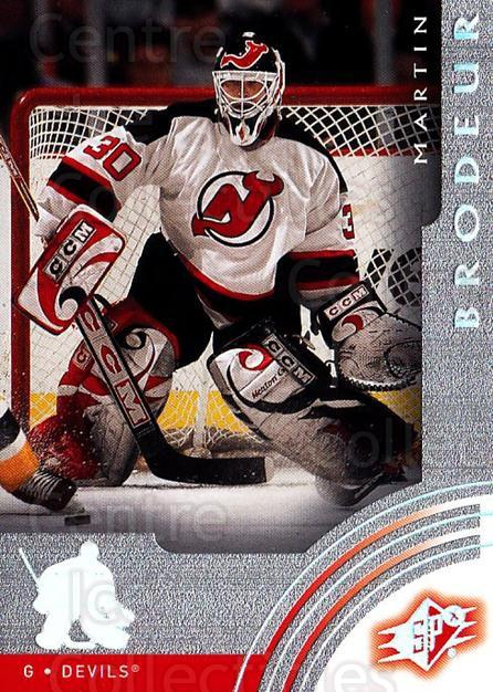 2001-02 SPx #37 Martin Brodeur<br/>3 In Stock - $2.00 each - <a href=https://centericecollectibles.foxycart.com/cart?name=2001-02%20SPx%20%2337%20Martin%20Brodeur...&quantity_max=3&price=$2.00&code=96812 class=foxycart> Buy it now! </a>