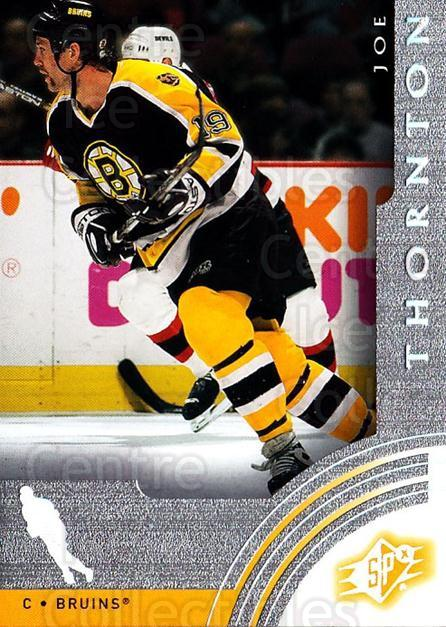 2001-02 SPx #4 Joe Thornton<br/>6 In Stock - $1.00 each - <a href=https://centericecollectibles.foxycart.com/cart?name=2001-02%20SPx%20%234%20Joe%20Thornton...&quantity_max=6&price=$1.00&code=96815 class=foxycart> Buy it now! </a>