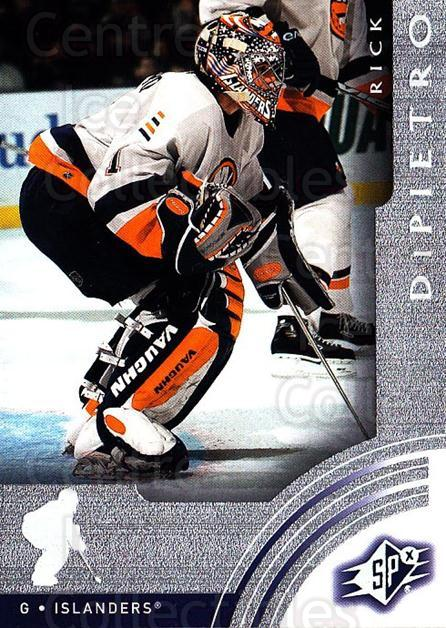 2001-02 SPx #41 Rick DiPietro<br/>6 In Stock - $1.00 each - <a href=https://centericecollectibles.foxycart.com/cart?name=2001-02%20SPx%20%2341%20Rick%20DiPietro...&quantity_max=6&price=$1.00&code=96817 class=foxycart> Buy it now! </a>
