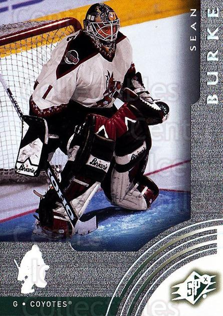 2001-02 SPx #50 Sean Burke<br/>6 In Stock - $1.00 each - <a href=https://centericecollectibles.foxycart.com/cart?name=2001-02%20SPx%20%2350%20Sean%20Burke...&quantity_max=6&price=$1.00&code=96826 class=foxycart> Buy it now! </a>