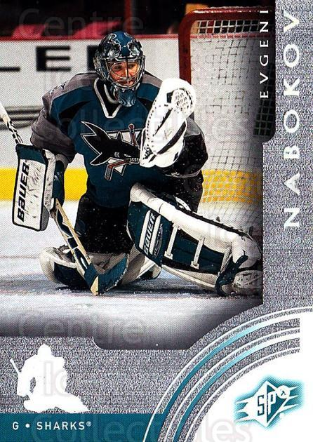 2001-02 SPx #55 Evgeni Nabokov<br/>6 In Stock - $1.00 each - <a href=https://centericecollectibles.foxycart.com/cart?name=2001-02%20SPx%20%2355%20Evgeni%20Nabokov...&quantity_max=6&price=$1.00&code=96831 class=foxycart> Buy it now! </a>