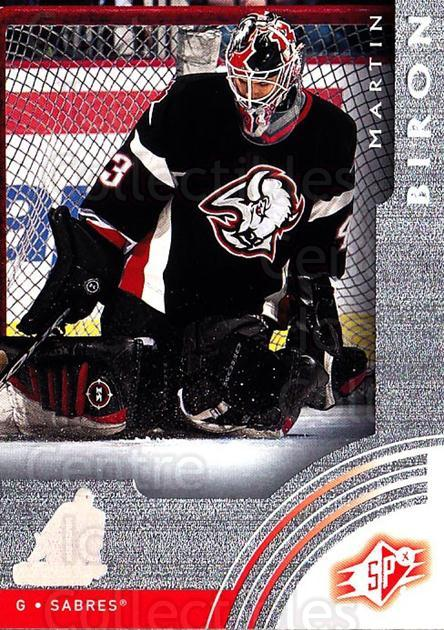2001-02 SPx #6 Martin Biron<br/>5 In Stock - $1.00 each - <a href=https://centericecollectibles.foxycart.com/cart?name=2001-02%20SPx%20%236%20Martin%20Biron...&quantity_max=5&price=$1.00&code=96836 class=foxycart> Buy it now! </a>