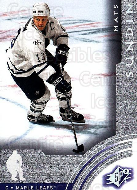 2001-02 SPx #65 Mats Sundin<br/>6 In Stock - $1.00 each - <a href=https://centericecollectibles.foxycart.com/cart?name=2001-02%20SPx%20%2365%20Mats%20Sundin...&quantity_max=6&price=$1.00&code=96842 class=foxycart> Buy it now! </a>