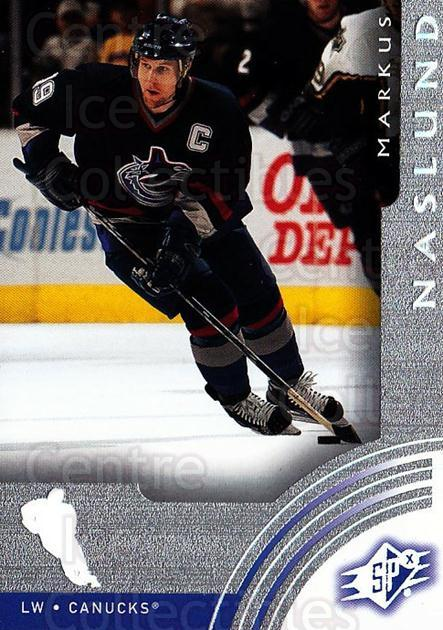 2001-02 SPx #66 Markus Naslund<br/>6 In Stock - $1.00 each - <a href=https://centericecollectibles.foxycart.com/cart?name=2001-02%20SPx%20%2366%20Markus%20Naslund...&quantity_max=6&price=$1.00&code=96843 class=foxycart> Buy it now! </a>