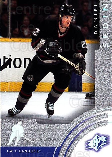 2001-02 SPx #67 Daniel Sedin<br/>6 In Stock - $1.00 each - <a href=https://centericecollectibles.foxycart.com/cart?name=2001-02%20SPx%20%2367%20Daniel%20Sedin...&quantity_max=6&price=$1.00&code=96844 class=foxycart> Buy it now! </a>