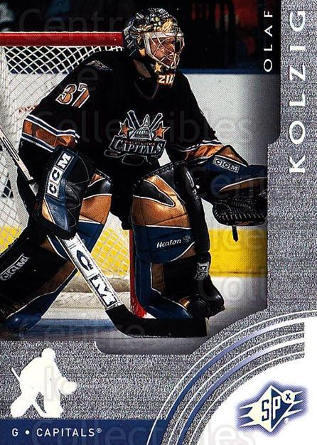 2001-02 SPx #70 Olaf Kolzig<br/>6 In Stock - $1.00 each - <a href=https://centericecollectibles.foxycart.com/cart?name=2001-02%20SPx%20%2370%20Olaf%20Kolzig...&quantity_max=6&price=$1.00&code=96848 class=foxycart> Buy it now! </a>