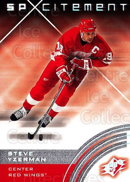 2001-02 SPx #75 Steve Yzerman<br/>5 In Stock - $3.00 each - <a href=https://centericecollectibles.foxycart.com/cart?name=2001-02%20SPx%20%2375%20Steve%20Yzerman...&quantity_max=5&price=$3.00&code=96853 class=foxycart> Buy it now! </a>