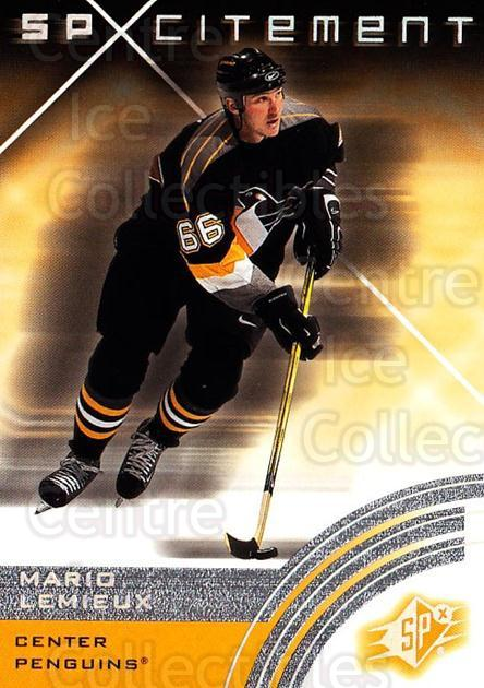 2001-02 SPx #78 Mario Lemieux<br/>2 In Stock - $3.00 each - <a href=https://centericecollectibles.foxycart.com/cart?name=2001-02%20SPx%20%2378%20Mario%20Lemieux...&quantity_max=2&price=$3.00&code=96856 class=foxycart> Buy it now! </a>