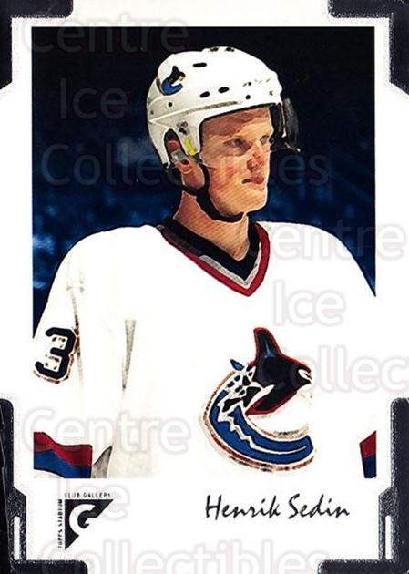 2001-02 Stadium Club Gallery #15 Henrik Sedin<br/>1 In Stock - $2.00 each - <a href=https://centericecollectibles.foxycart.com/cart?name=2001-02%20Stadium%20Club%20Gallery%20%2315%20Henrik%20Sedin...&quantity_max=1&price=$2.00&code=96880 class=foxycart> Buy it now! </a>