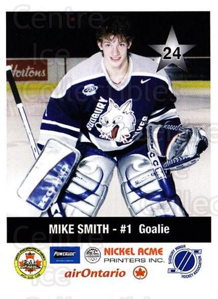 2001-02 Sudbury Wolves Police #24 Mike Smith<br/>2 In Stock - $3.00 each - <a href=https://centericecollectibles.foxycart.com/cart?name=2001-02%20Sudbury%20Wolves%20Police%20%2324%20Mike%20Smith...&quantity_max=2&price=$3.00&code=97044 class=foxycart> Buy it now! </a>