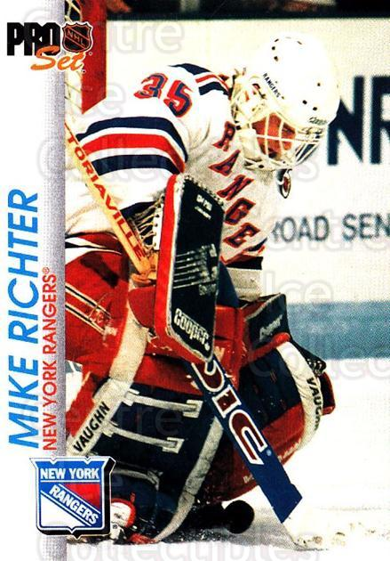 1992-93 Pro Set #116 Mike Richter<br/>4 In Stock - $1.00 each - <a href=https://centericecollectibles.foxycart.com/cart?name=1992-93%20Pro%20Set%20%23116%20Mike%20Richter...&quantity_max=4&price=$1.00&code=9713 class=foxycart> Buy it now! </a>