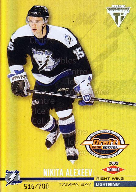 2001-02 Titanium Draft Day Edition #167 Nikita Alexeev<br/>3 In Stock - $3.00 each - <a href=https://centericecollectibles.foxycart.com/cart?name=2001-02%20Titanium%20Draft%20Day%20Edition%20%23167%20Nikita%20Alexeev...&quantity_max=3&price=$3.00&code=97179 class=foxycart> Buy it now! </a>