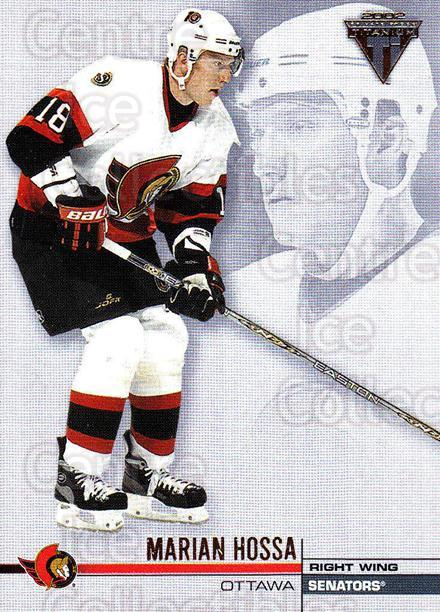 2001-02 Titanium Retail #100 Marian Hossa<br/>6 In Stock - $1.00 each - <a href=https://centericecollectibles.foxycart.com/cart?name=2001-02%20Titanium%20Retail%20%23100%20Marian%20Hossa...&quantity_max=6&price=$1.00&code=97201 class=foxycart> Buy it now! </a>