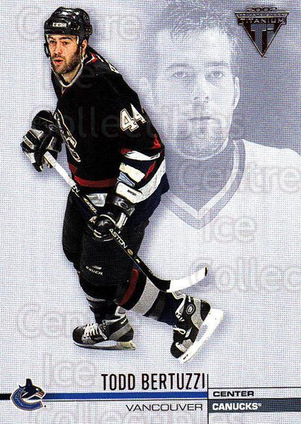 2001-02 Titanium Retail #134 Todd Bertuzzi<br/>6 In Stock - $1.00 each - <a href=https://centericecollectibles.foxycart.com/cart?name=2001-02%20Titanium%20Retail%20%23134%20Todd%20Bertuzzi...&quantity_max=6&price=$1.00&code=97233 class=foxycart> Buy it now! </a>