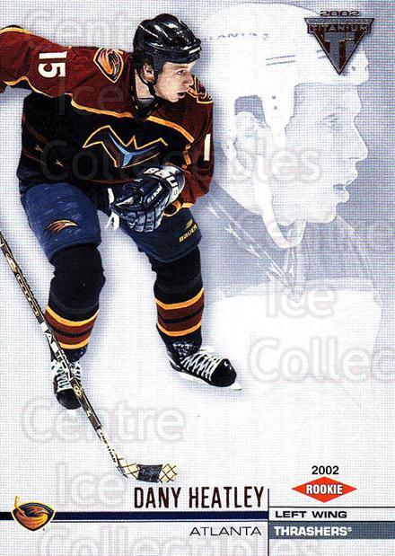 2001-02 Titanium Retail #4 Dany Heatley<br/>7 In Stock - $1.00 each - <a href=https://centericecollectibles.foxycart.com/cart?name=2001-02%20Titanium%20Retail%20%234%20Dany%20Heatley...&quantity_max=7&price=$1.00&code=97301 class=foxycart> Buy it now! </a>