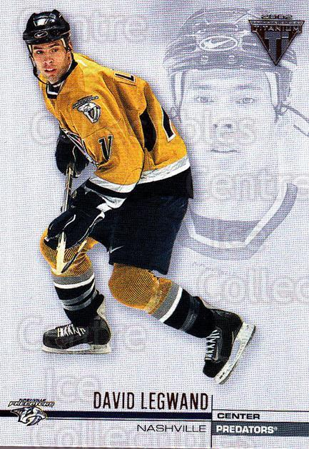 2001-02 Titanium Retail #79 David Legwand<br/>7 In Stock - $1.00 each - <a href=https://centericecollectibles.foxycart.com/cart?name=2001-02%20Titanium%20Retail%20%2379%20David%20Legwand...&quantity_max=7&price=$1.00&code=97334 class=foxycart> Buy it now! </a>