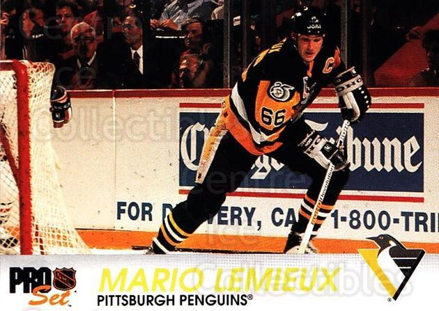 1992-93 Pro Set #139 Mario Lemieux<br/>4 In Stock - $2.00 each - <a href=https://centericecollectibles.foxycart.com/cart?name=1992-93%20Pro%20Set%20%23139%20Mario%20Lemieux...&price=$2.00&code=9738 class=foxycart> Buy it now! </a>