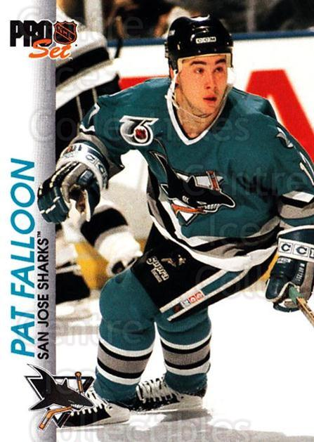 1992-93 Pro Set #166 Pat Falloon<br/>6 In Stock - $1.00 each - <a href=https://centericecollectibles.foxycart.com/cart?name=1992-93%20Pro%20Set%20%23166%20Pat%20Falloon...&quantity_max=6&price=$1.00&code=9767 class=foxycart> Buy it now! </a>