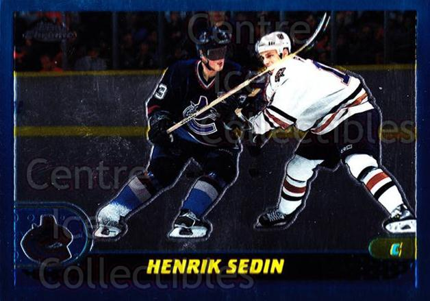 2001-02 Topps Chrome #45 Henrik Sedin<br/>5 In Stock - $1.00 each - <a href=https://centericecollectibles.foxycart.com/cart?name=2001-02%20Topps%20Chrome%20%2345%20Henrik%20Sedin...&quantity_max=5&price=$1.00&code=97736 class=foxycart> Buy it now! </a>