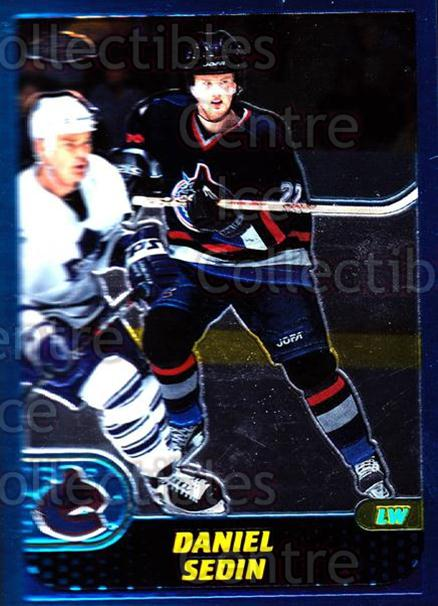 2001-02 Topps Chrome #63 Daniel Sedin<br/>4 In Stock - $1.00 each - <a href=https://centericecollectibles.foxycart.com/cart?name=2001-02%20Topps%20Chrome%20%2363%20Daniel%20Sedin...&price=$1.00&code=97756 class=foxycart> Buy it now! </a>