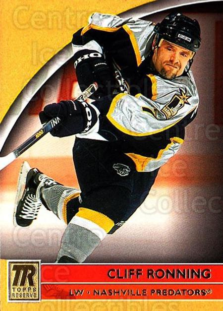 2001-02 Topps Reserve #46 Cliff Ronning<br/>7 In Stock - $1.00 each - <a href=https://centericecollectibles.foxycart.com/cart?name=2001-02%20Topps%20Reserve%20%2346%20Cliff%20Ronning...&quantity_max=7&price=$1.00&code=98101 class=foxycart> Buy it now! </a>