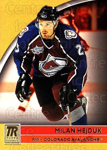 2001-02 Topps Reserve #48 Milan Hejduk<br/>4 In Stock - $1.00 each - <a href=https://centericecollectibles.foxycart.com/cart?name=2001-02%20Topps%20Reserve%20%2348%20Milan%20Hejduk...&quantity_max=4&price=$1.00&code=98103 class=foxycart> Buy it now! </a>