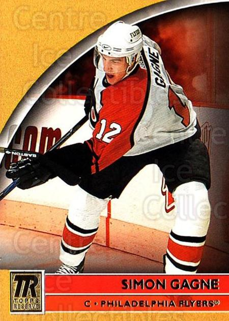 2001-02 Topps Reserve #5 Simon Gagne<br/>2 In Stock - $1.00 each - <a href=https://centericecollectibles.foxycart.com/cart?name=2001-02%20Topps%20Reserve%20%235%20Simon%20Gagne...&quantity_max=2&price=$1.00&code=98105 class=foxycart> Buy it now! </a>