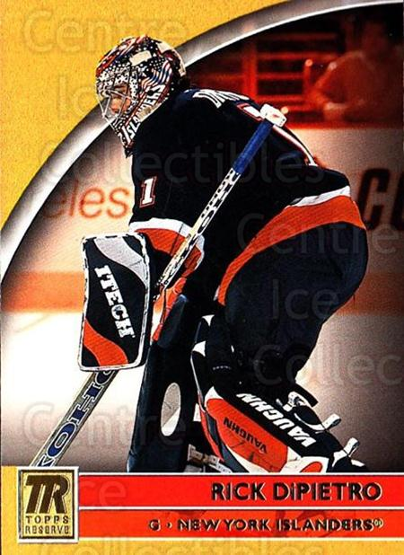 2001-02 Topps Reserve #58 Rick DiPietro<br/>4 In Stock - $1.00 each - <a href=https://centericecollectibles.foxycart.com/cart?name=2001-02%20Topps%20Reserve%20%2358%20Rick%20DiPietro...&quantity_max=4&price=$1.00&code=98113 class=foxycart> Buy it now! </a>
