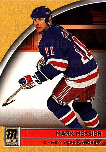 2001-02 Topps Reserve #9 Mark Messier<br/>2 In Stock - $1.00 each - <a href=https://centericecollectibles.foxycart.com/cart?name=2001-02%20Topps%20Reserve%20%239%20Mark%20Messier...&quantity_max=2&price=$1.00&code=98137 class=foxycart> Buy it now! </a>