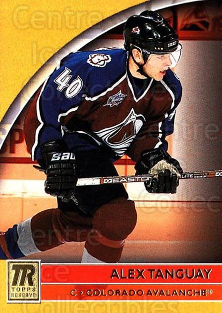 2001-02 Topps Reserve #98 Alex Tanguay<br/>6 In Stock - $1.00 each - <a href=https://centericecollectibles.foxycart.com/cart?name=2001-02%20Topps%20Reserve%20%2398%20Alex%20Tanguay...&quantity_max=6&price=$1.00&code=98145 class=foxycart> Buy it now! </a>