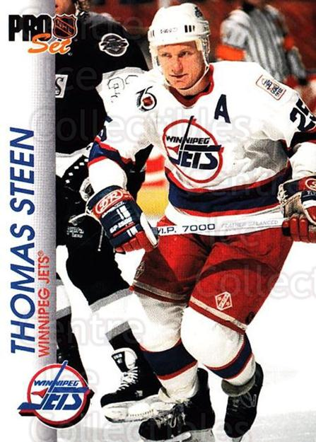 1992-93 Pro Set #217 Thomas Steen<br/>3 In Stock - $1.00 each - <a href=https://centericecollectibles.foxycart.com/cart?name=1992-93%20Pro%20Set%20%23217%20Thomas%20Steen...&quantity_max=3&price=$1.00&code=9821 class=foxycart> Buy it now! </a>